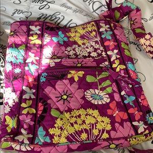 Purple butterfly pattern Vera Bradley purse